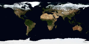 World map.  Image credit: NASA