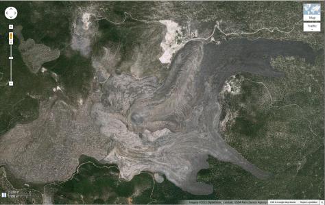 Glass Mountain, Siskiyou County, CA.  Image credit: Google Maps