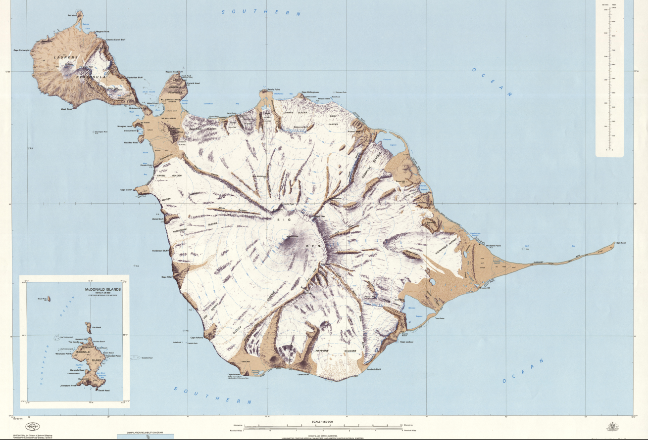 Topographic Maps of Heard Island and a Big Landslide The