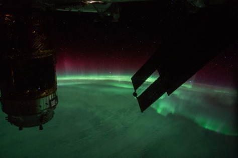Aurora Australis seen from the International Space Station as it flew over Heard Island on September 7, 2015.  Image credit: NASA (public domain).